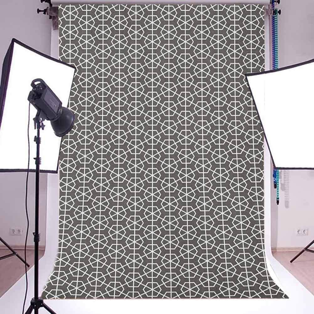 7x10 FT Geometric Vinyl Photography Backdrop,Diagonal and Vertical Lines with Hexagon Shapes Culture Inspired Background for Baby Birthday Party Wedding Studio Props Photography
