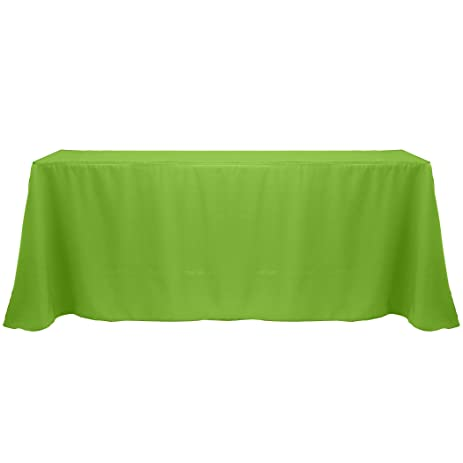 Ultimate Textile (10 Pack) 90 X 132 Inch Rectangular Polyester Linen  Tablecloth With