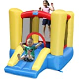 ACTION AIR Bounce House, Toddler Inflatable Bounce House with Blower for Indoor/Outdoor, Bouncy Castle with Durable Sewn…