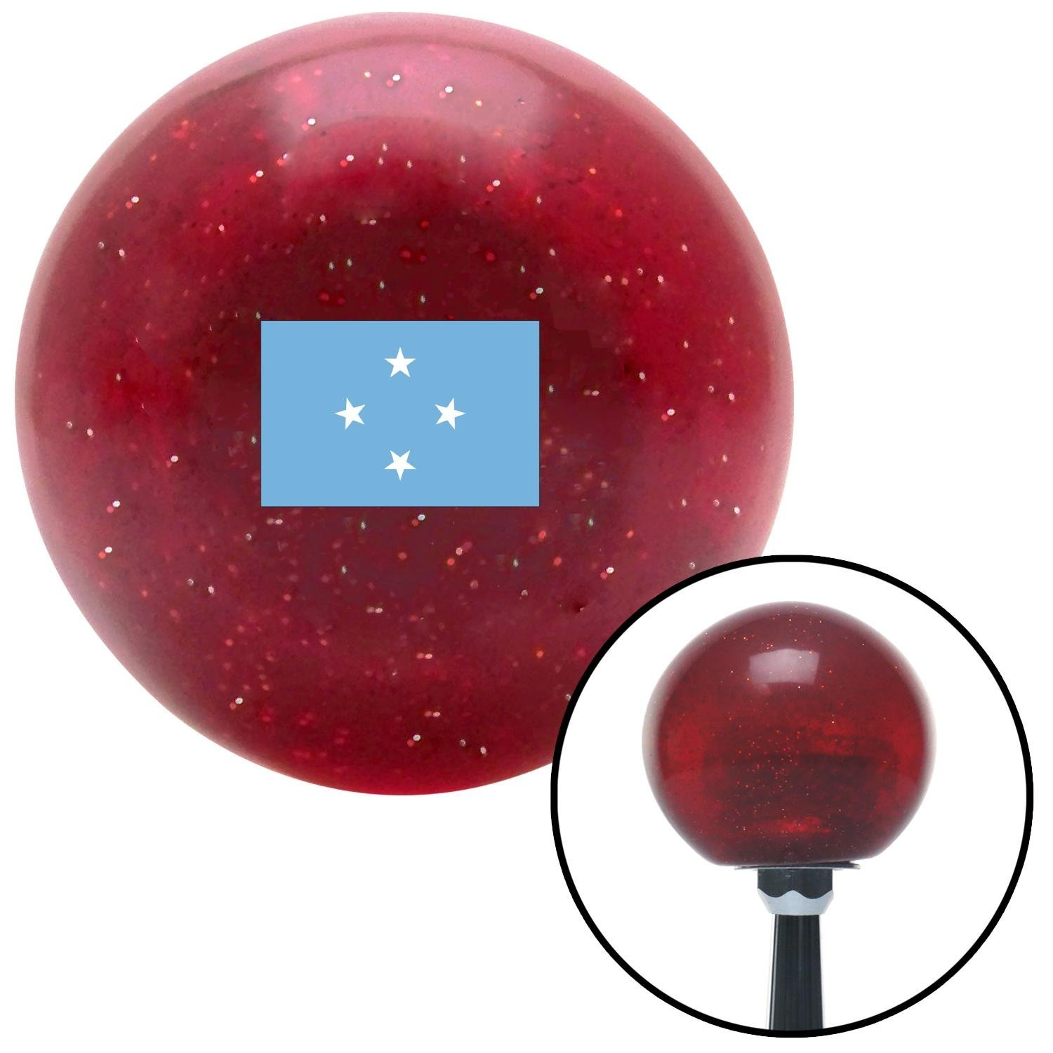 Micronesia Red Metal Flake with M16 x 1.5 Insert American Shifter 303196 Shift Knob