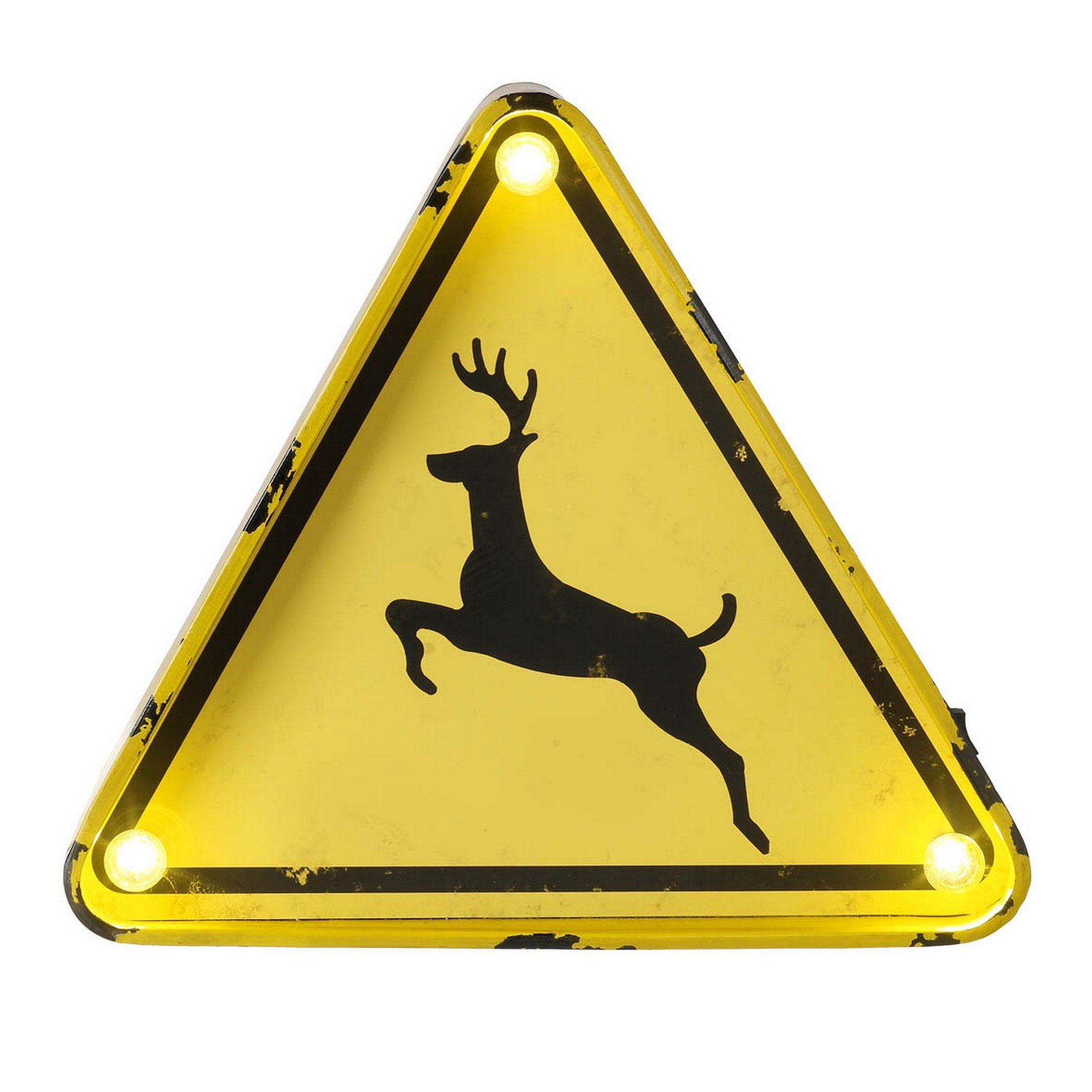Heaven Sends Deer Crossing LED Sign (11.8 x 2 x 11.8 inches) (Yellow)
