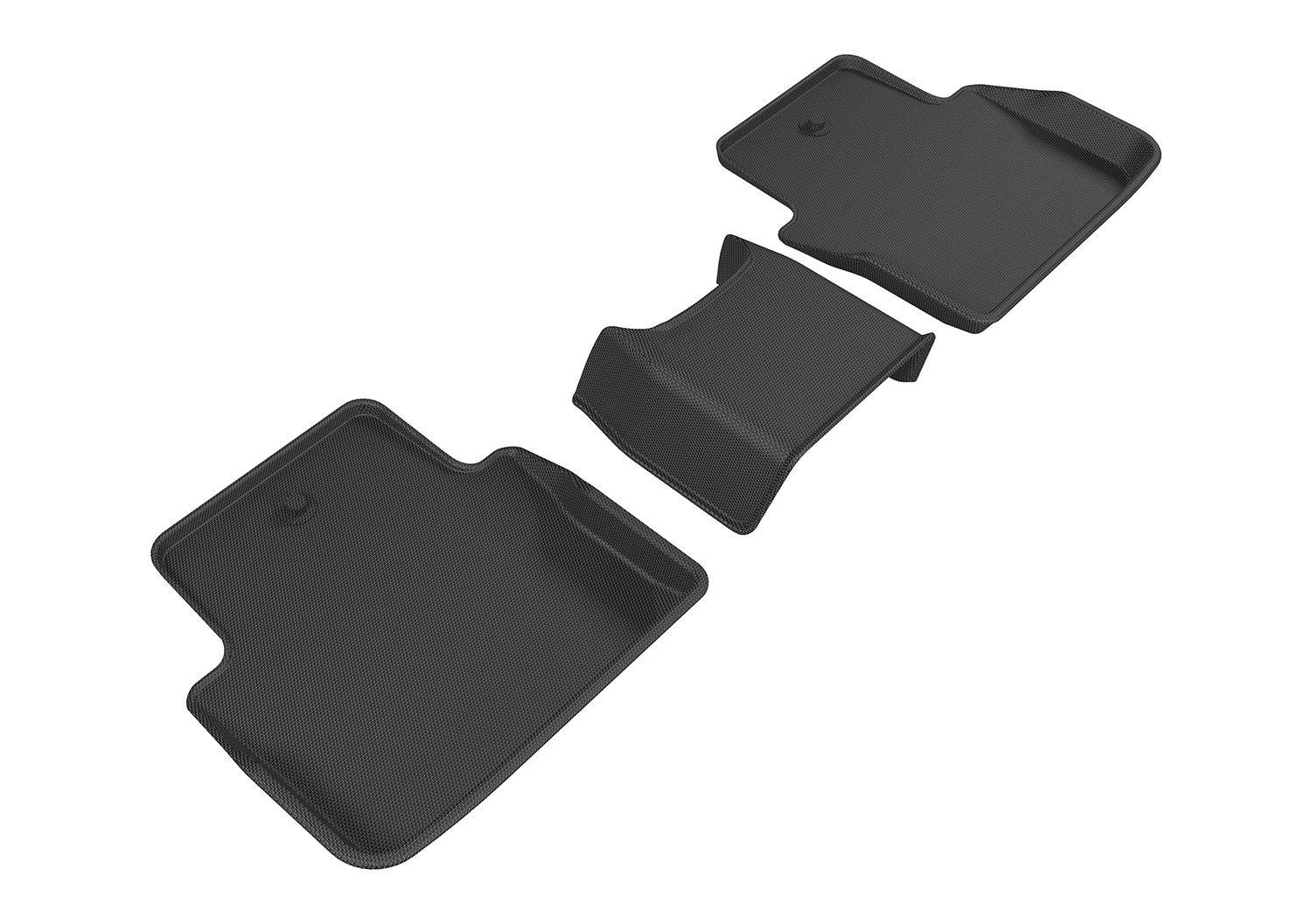 3D MAXpider Second Row Custom Fit All-Weather Floor Mat for Select Acura TLX Models Kagu Rubber Gray