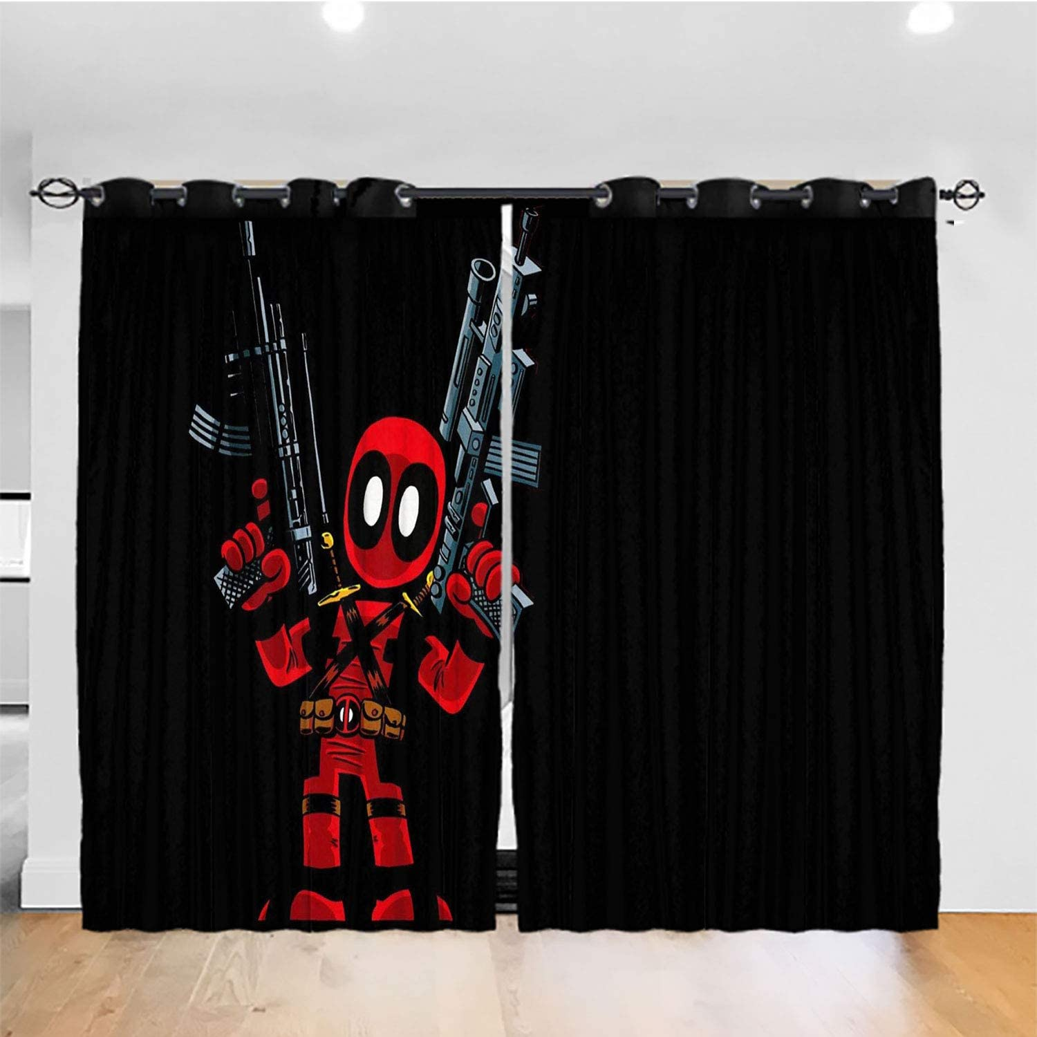 Amazon Com Dylan Simpsonm Deadpool Curtains For Bedroom Room For Kid S Bedroom W120xl72inch Home Kitchen