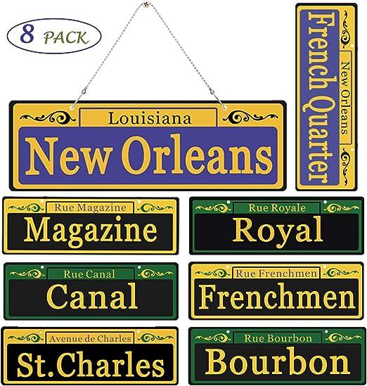 Amazon Com 2020 Mardi Gras Decorations New Orleans Street Signs 8