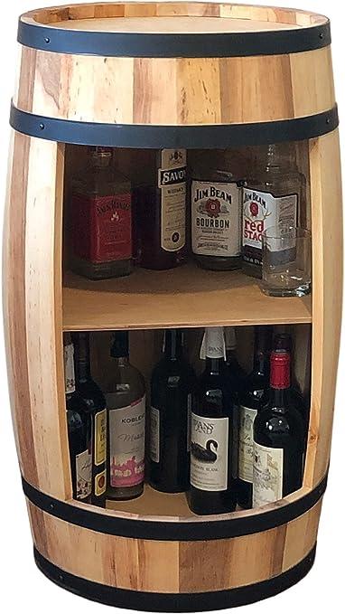 Mueble para vino de 81 cm, estante para botellas de vino, madera ...