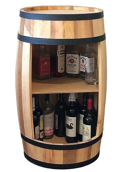 Meuble A Vin 81 Cm Tonneau A Vin En Bois Naturel Table A
