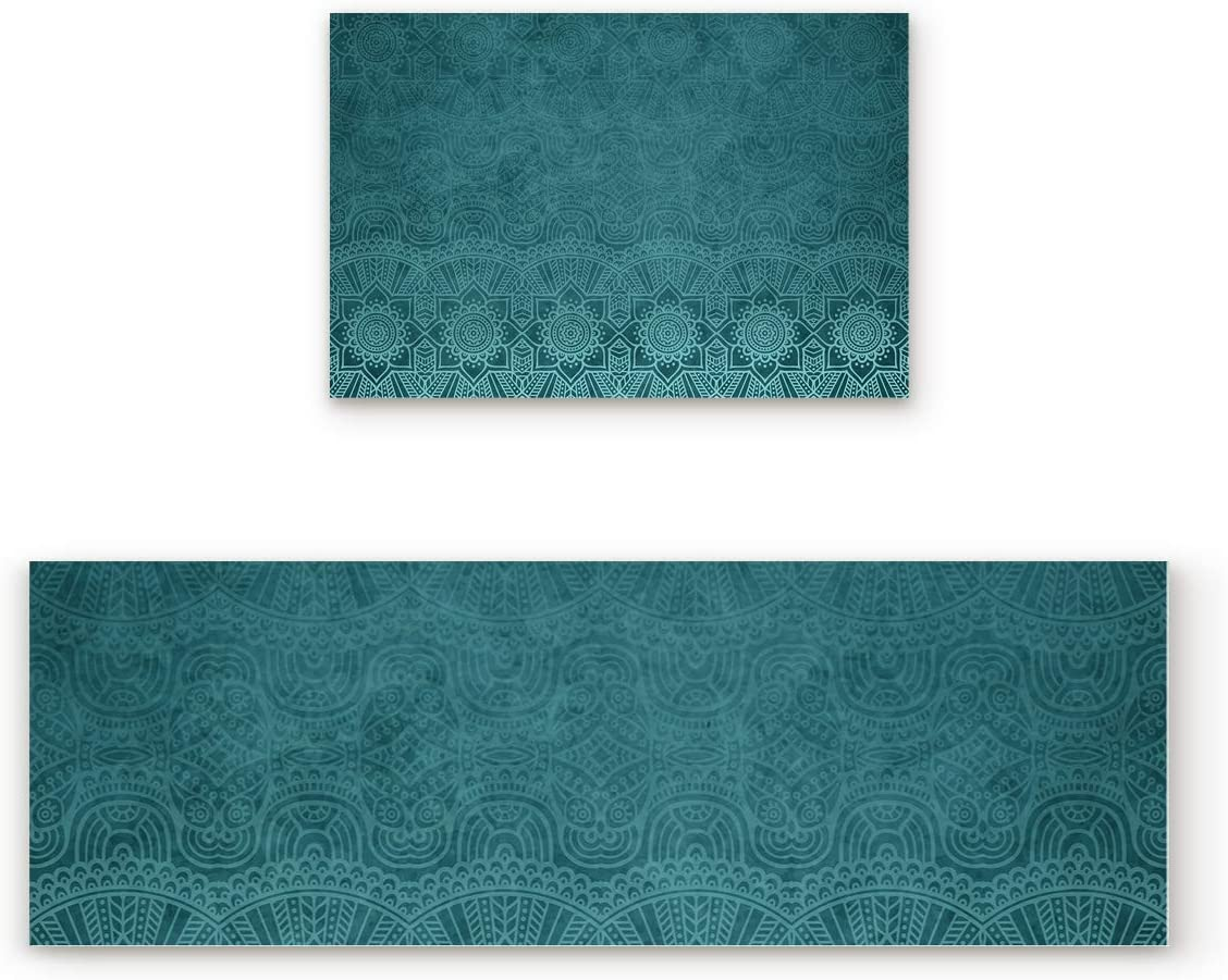 ZL Home Kitchen Rugs and Mats Non Piece of Skid Set Rubber New Orleans Mall 5 ☆ popular 2 Ba
