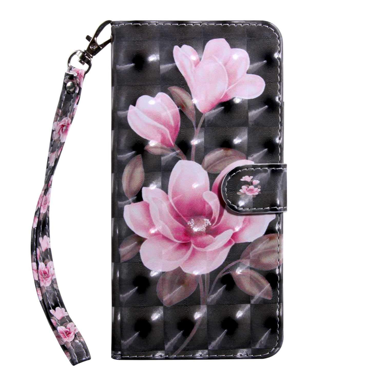 Xiaomi MI 5X Case CUSKING Magnetic Wallet Case for Xiaomi MI 5X [Card Slot] [Hand Strap] [Flip Case] [Easy to Clean] Full Body Proective Case - Flower