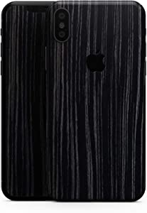 Black Wood Texture - Design Skinz Premium Skin Decal Wrap for The iPhone 5s or SE