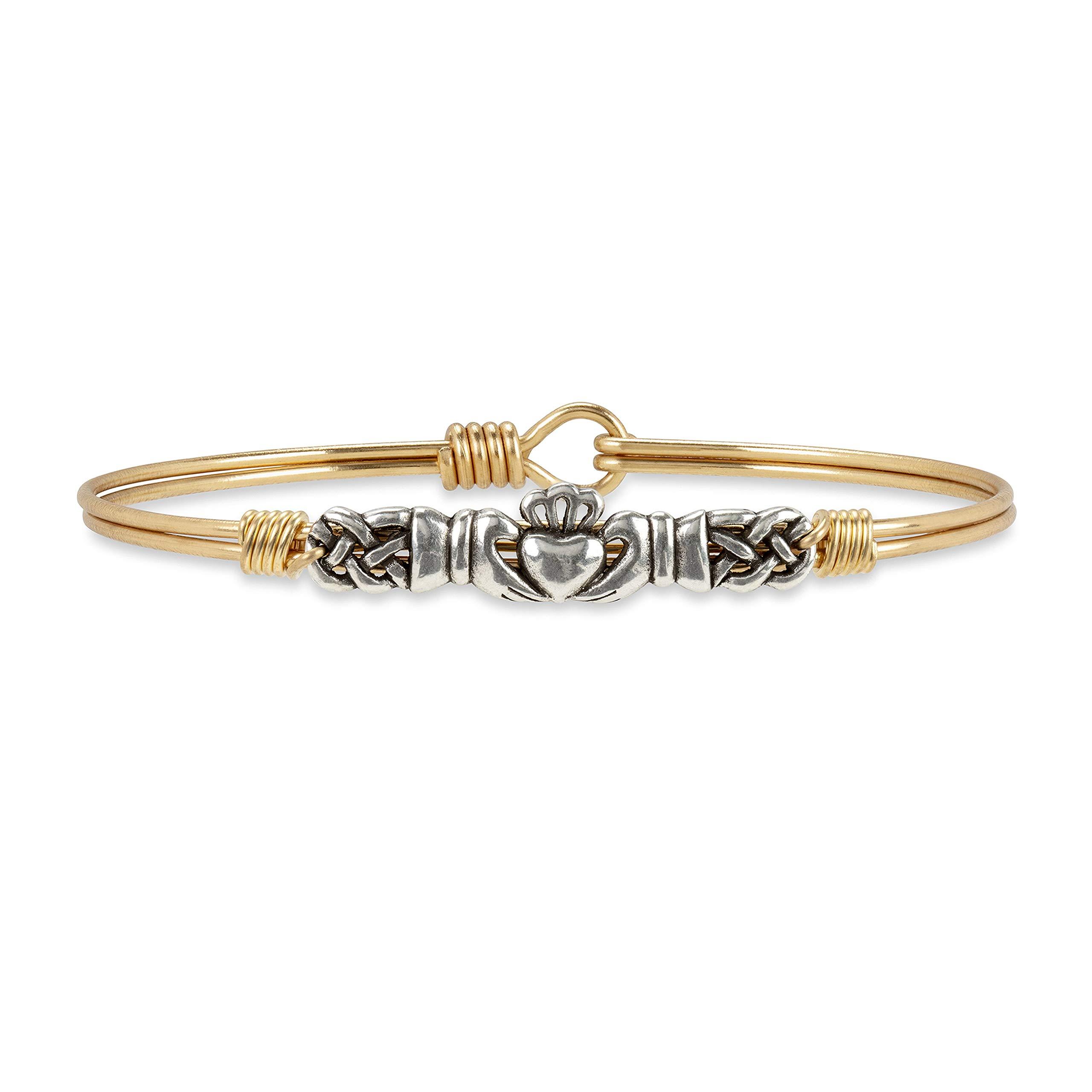 Luca + Danni Claddagh Bangle Bracelet - Regular/Brass Tone