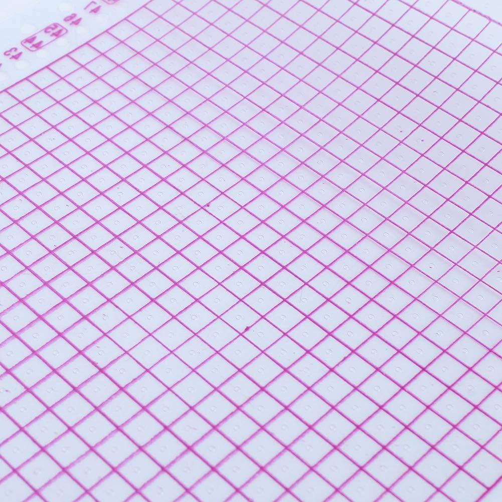 100 pezzi//rotolo Carta perforata rossa trasparente 24 punti Accessori per macchine per maglieria Parti della macchina per maglieria