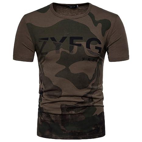 """Camiseta Hombre,Longra ☆ Camisas Hombre Camisas de """"ZYFG"""" impresión de moda"""