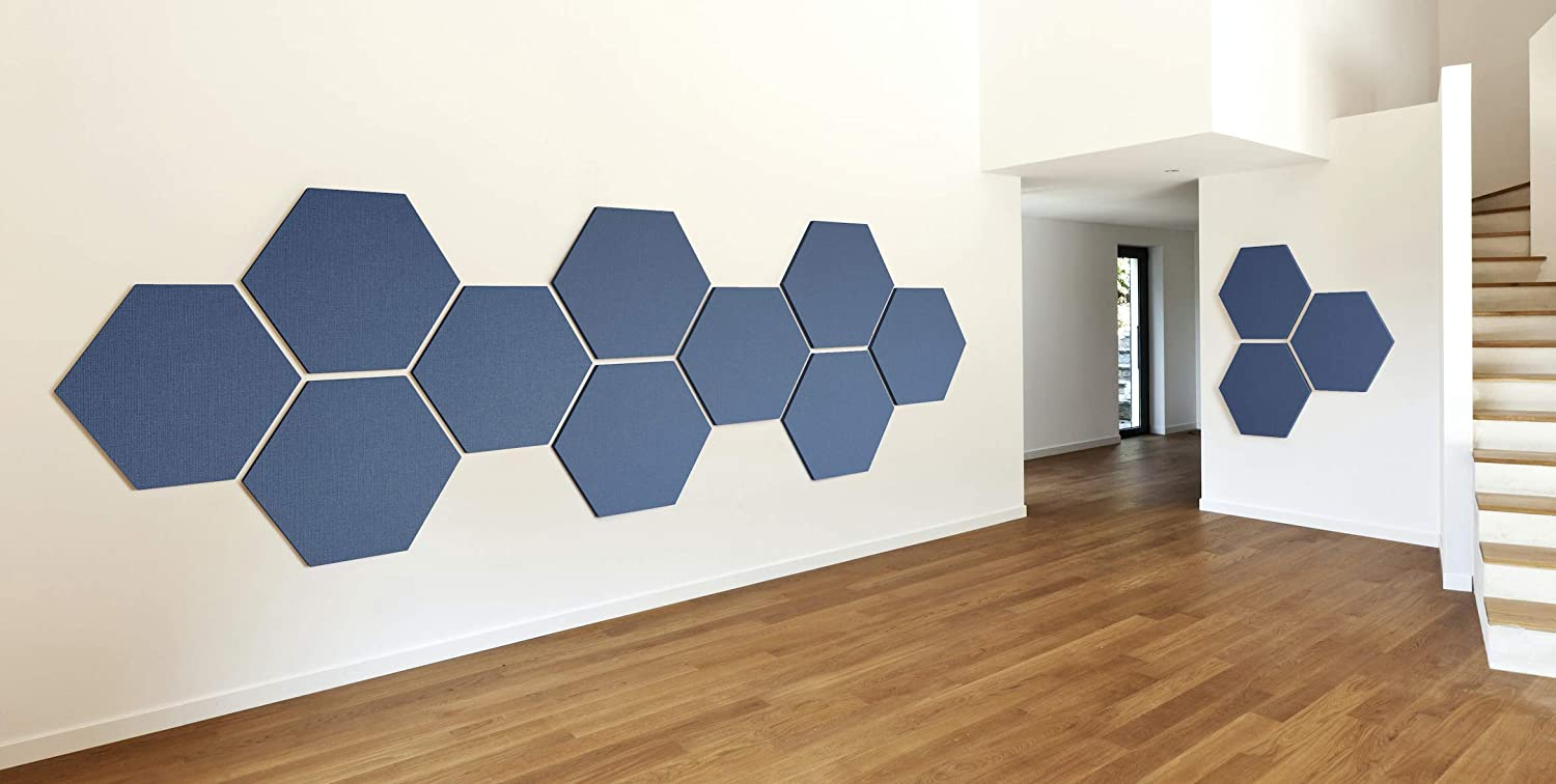 "ADW Acoustic Panels 24"" X 24"" X 2"" Hexagon – Quick Easy DIY Install – See  Our Many Color Choices"