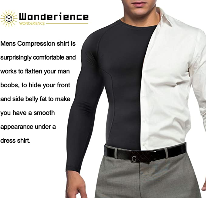 Amazon.com: Wonderience Compression Shirts for Men Long Sleeve ...