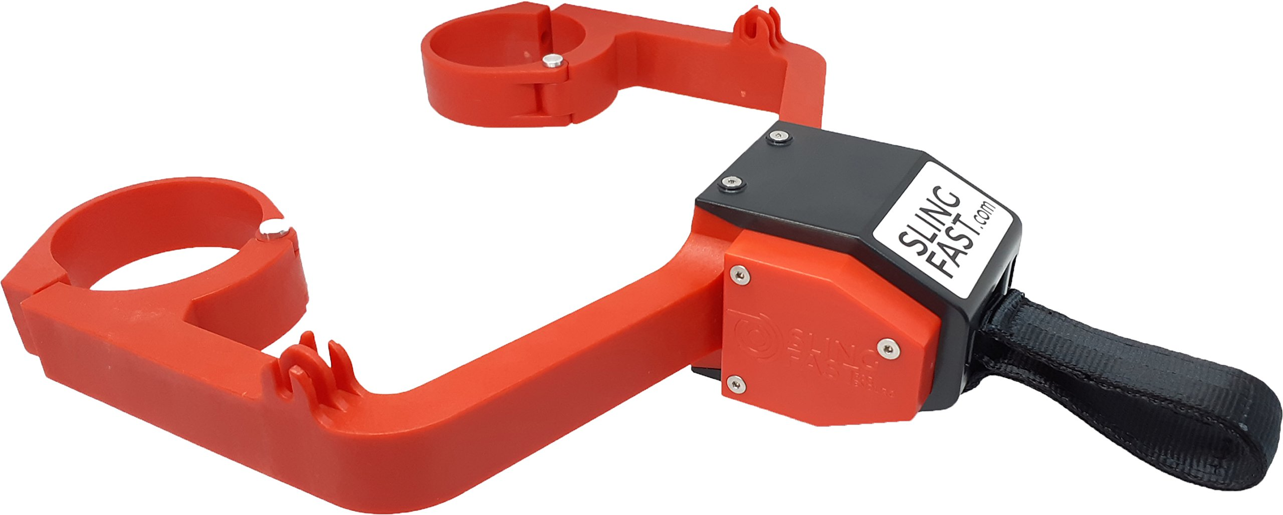 SLING FAST (R-In). Rapid retractable and automatic strap sling for extreme enduro. (Full Red) Color for GAS GAS, HONDA or Beta