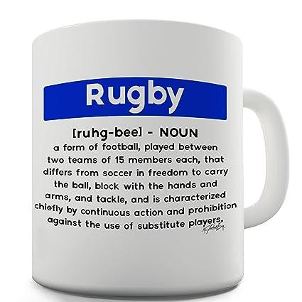 TWISTED ENVY Trenzado Envy Rugby definición taza de cerámica
