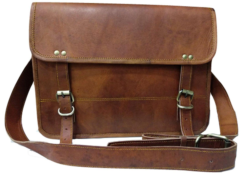 Leather bag Fair Deal / half flap messenger bag / laptop bag / travel bag / travel gear/ unisex bag / office briefcase / brown bag