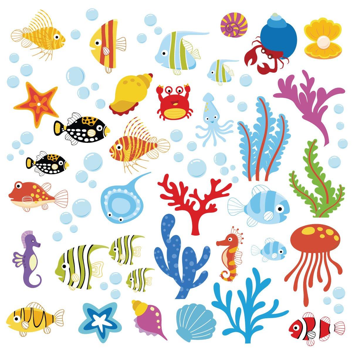 Ocean Wonders Decorative Peel U0026 Stick Wall Art Sticker Decals Part 73