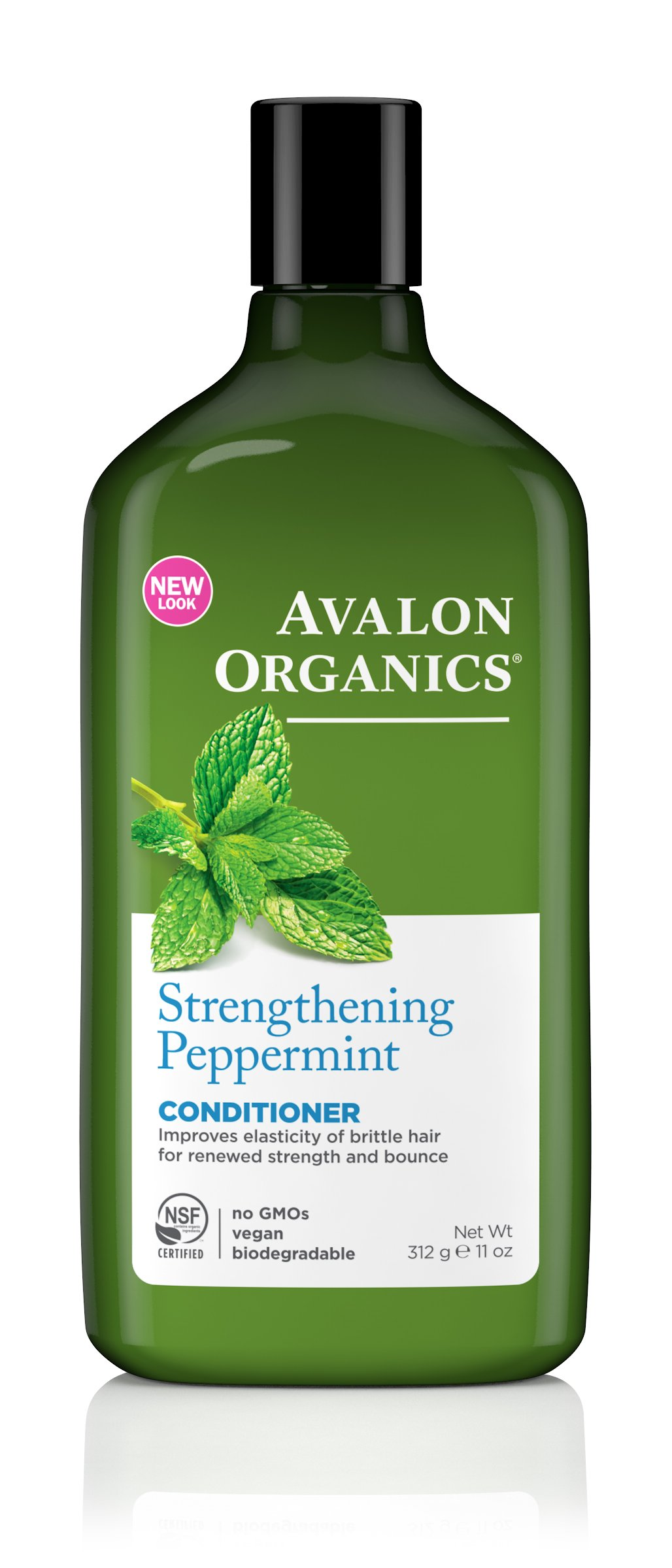Avalon Organics Conditioner, Strengthening Peppermint, 11 Ounce