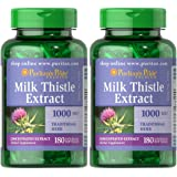 Puritan's Pride 2-pack of Milk Thistle 4:1 Extract 1000 Mg (Silymarin)-180 Softgels (360 Total)