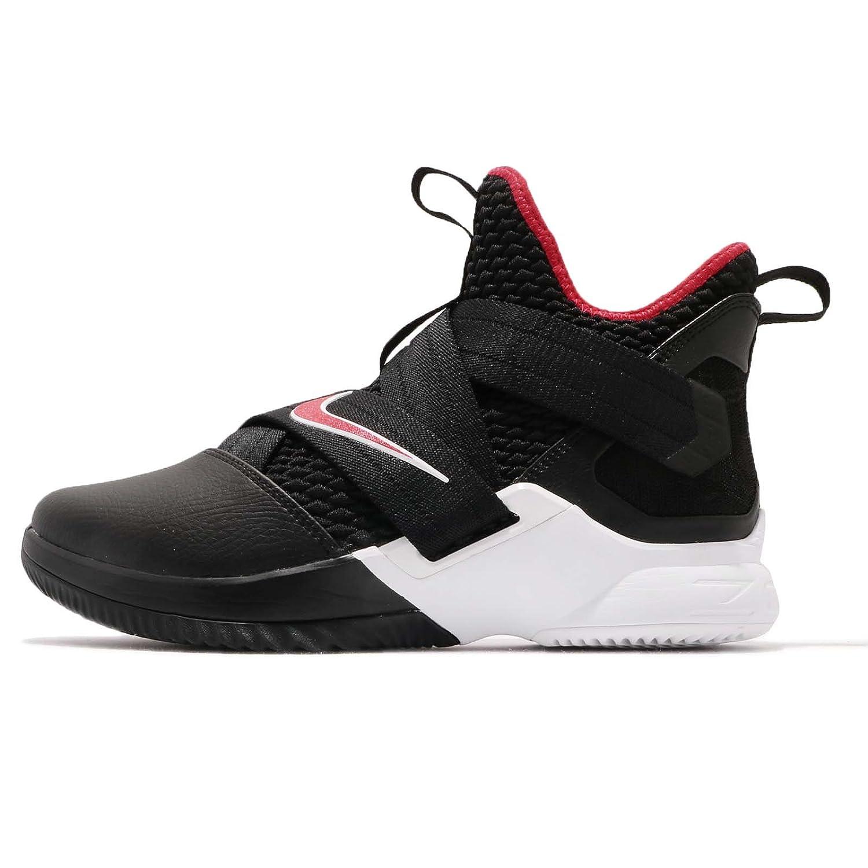[ナイキ] レブロン ソルジャー XII EP メンズ バスケットボール シューズ LeBron Soldier XII EP Bred AO4053-001 [並行輸入品] B07D57KLLJ BLACK/UNIVERSITY RED-WHITE 28.0 cm