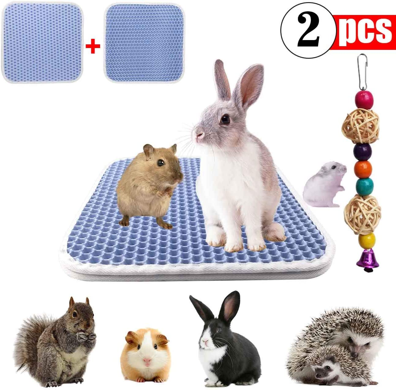 GABraden Rabbit cage mat,Urine Waterproof Extra,Small Animal Bunny Bedding,Bed,Mat for Guinea Pig Parrot Rabbit Bunny Hamster Rat