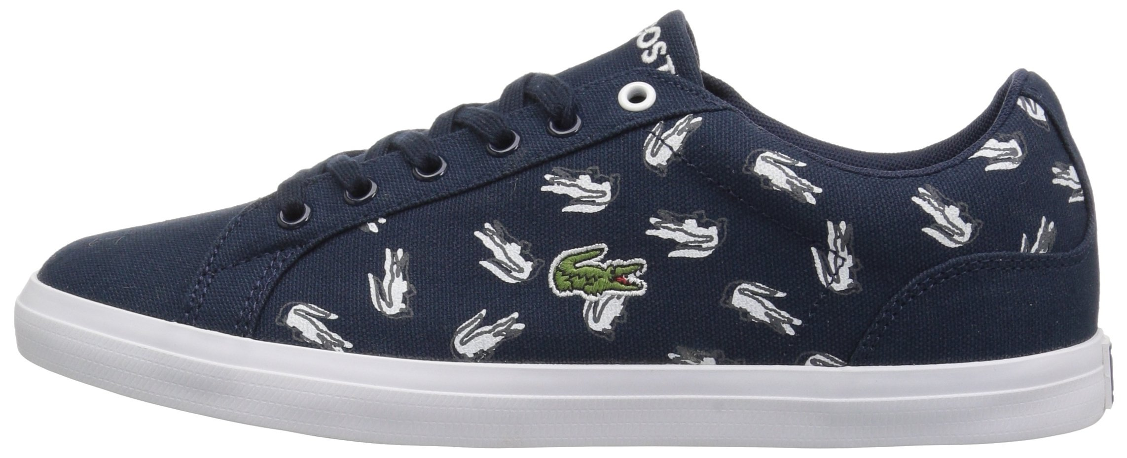 Lacoste Kids' Lerond Sneakers,Navy/White cotton canvas,5 M US Big Kid by Lacoste (Image #5)