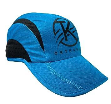 OKTHANNA Gorra Running Hombre y Gorra Running Mujer Unisex Azul Y ...