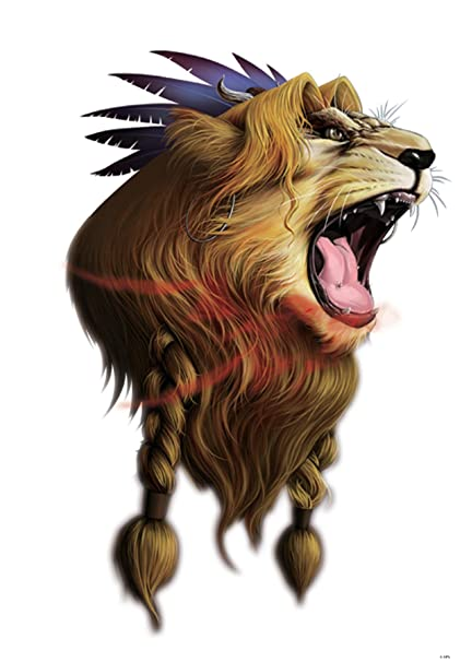 Lion King Large 8 25 Half Sleeve Arm Tattoo Party Body Decal