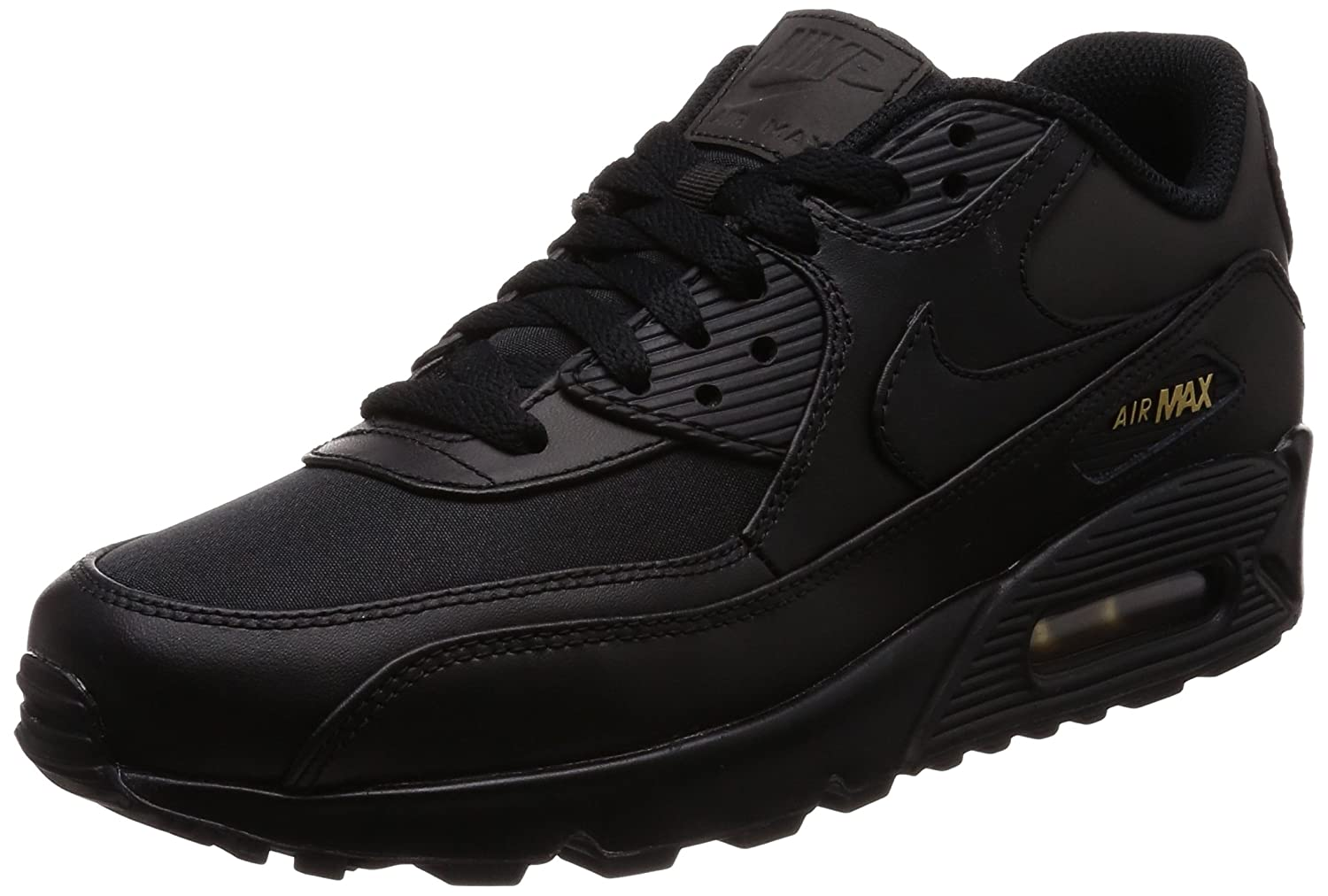wholesale dealer 5cb95 3b3d6 Nike Mens Air Max 90 Premium, BlackMetallic Gold, 13 M US Amazon.com.au  Fashion