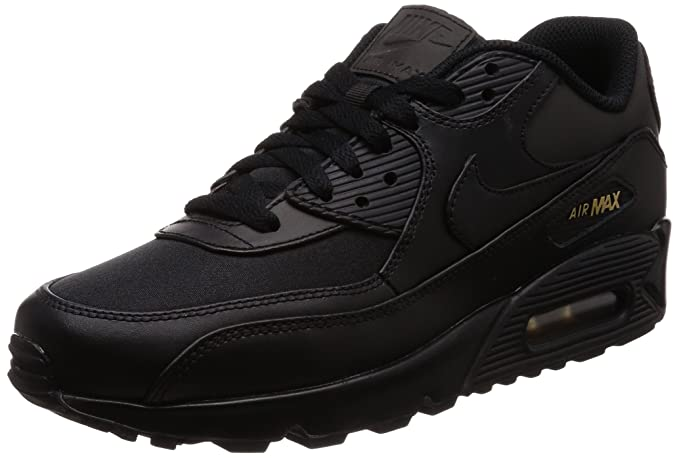 Nike Air Max 90 Premium Black Metallic Gold Shoes Best Price 700155 011