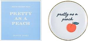 Draper James Decorative Accent Ceramic Trinket Tray, Pretty As A Peach