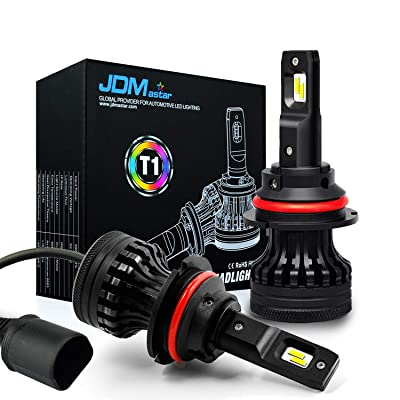JDM ASTAR T1 9007 All-in-One Upgrade Vision White LED Headlight Bulbs: Automotive