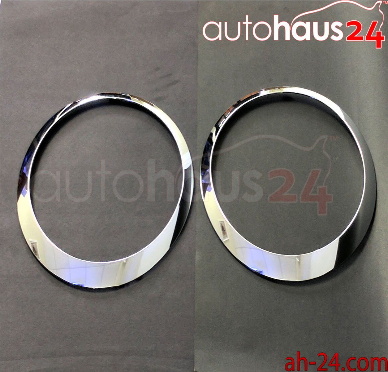 Left and Right Side Chrome Headlight Trim Ring For Mini Cooper 2007-2015 51137149905/906