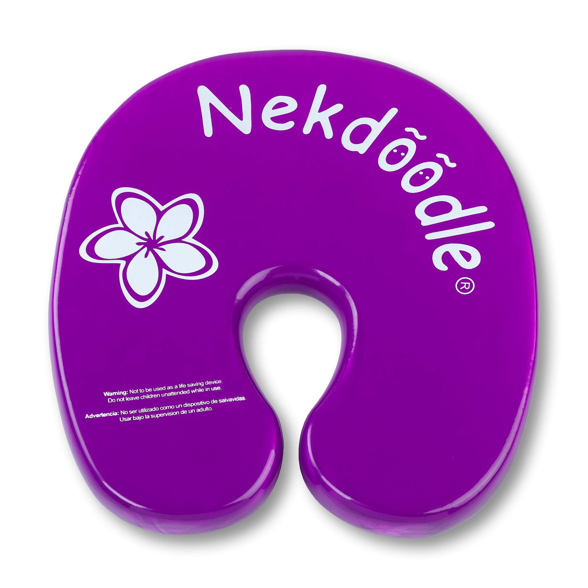 Nekdoodle Swimming Pool Float for Aqua Water Aerobics & Exercises - Pool Workouts & Fitness - Fun & Recreational Pool Toy - Fits Adults and Kids - Purple Plumeria Flower