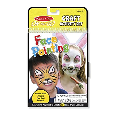 Melissa & Doug On the Go Face Painting Craft Activity Set (35+ Designs, Great Gift for Girls and Boys - Best for 5, 6, 7, 8, 9 Year Olds and Up): Toy: Toys & Games [5Bkhe0500599]