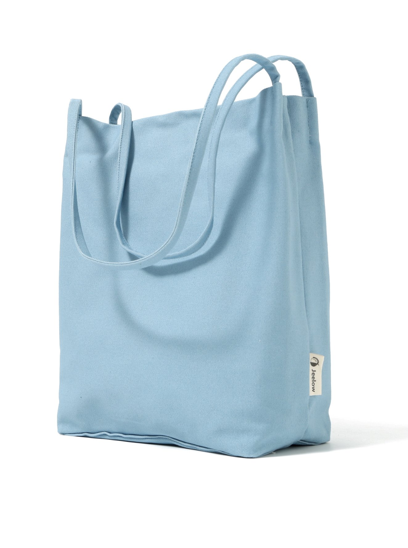 Canvas Tote Bag Handbag Shoulder Bag Purses For Men And Women (Light blue) by Jeelow (Image #1)