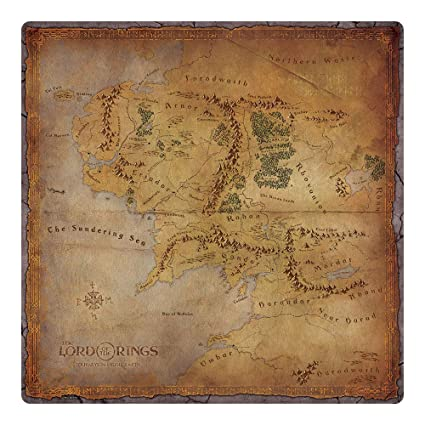 Fantasy Flight Games LOTR JME: Middle-Earth Gamemat on lord of the rings map, the hobbit map, kingdoms of middle earth buildings,
