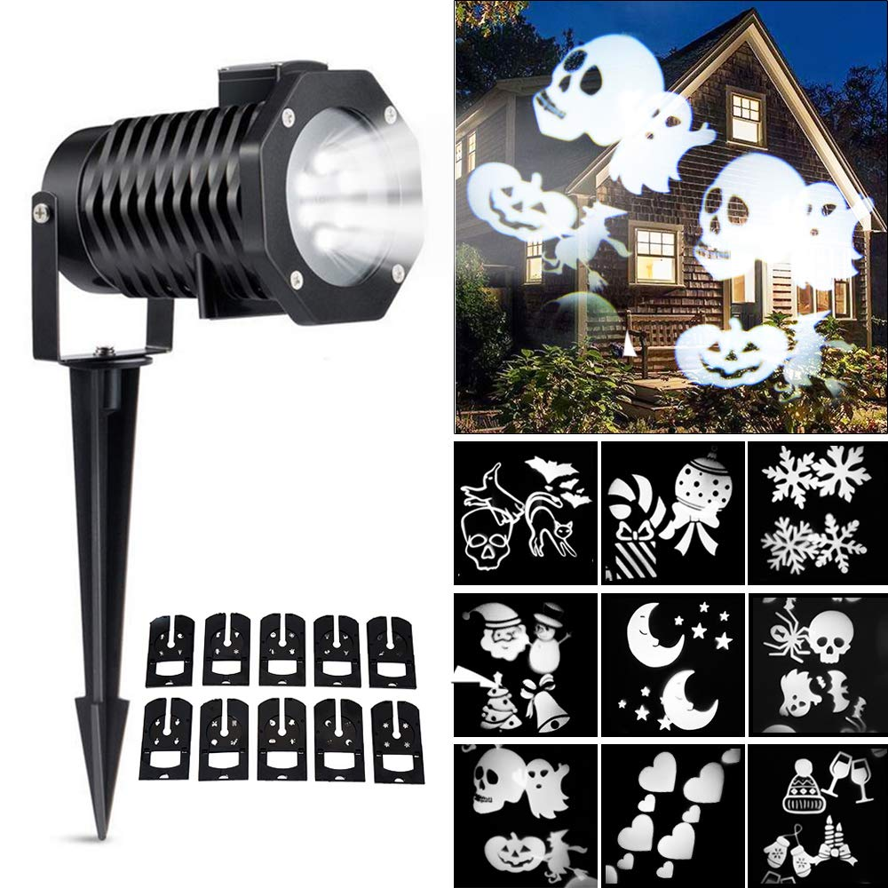 Ucharge Led Christmas Light Projector, Indoor Outdoor Snowflake ...