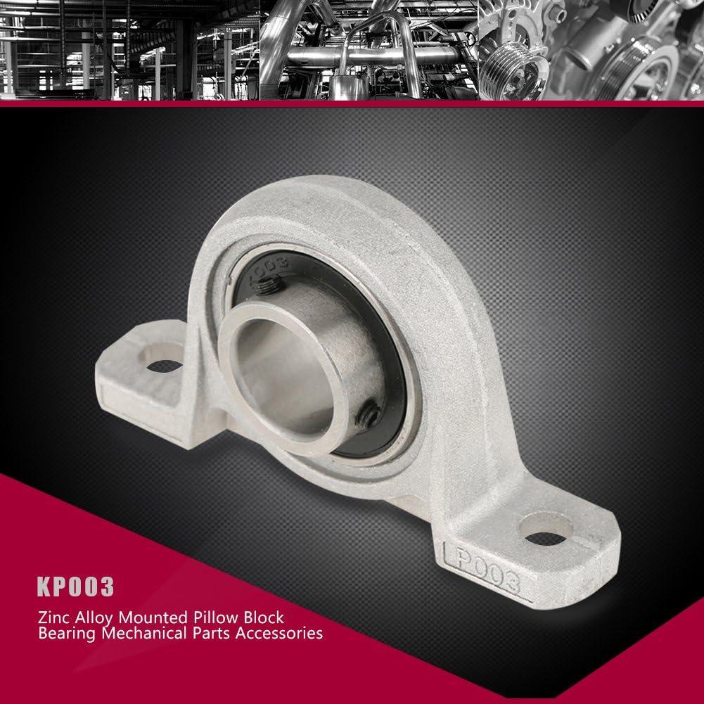 FTVOGUE Paliers a semelle,17mm KP003 Roulements /à billes accessoires m/écaniques roulement /à rouleaux en alliage de zinc