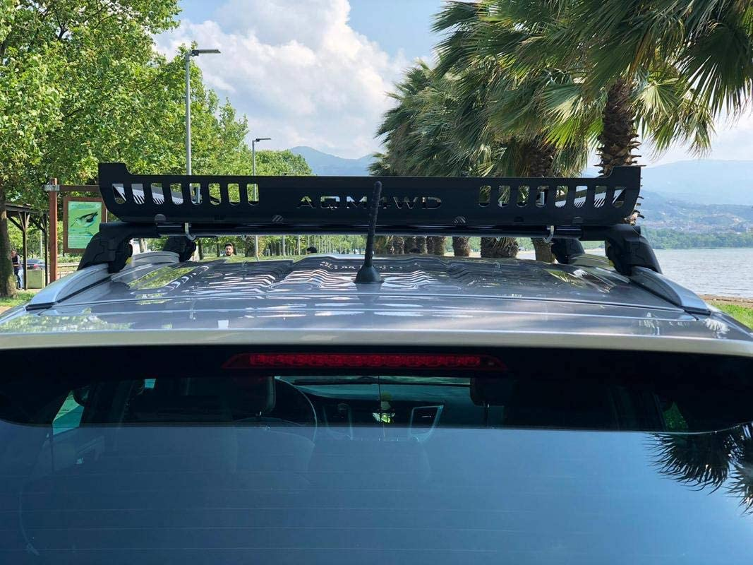 BLACK ROOF RACK BASKET CROSS BARS ARE NOT INCLUDED LOCKABLE FOR MITSUBISHI OUTLANDER 2013-ONWARDS
