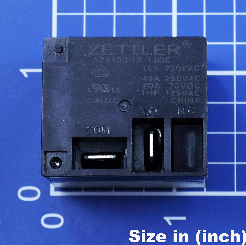American Zettler Inc Inc. AZ2100-1A-12DE Relay; E-Mech; Power; SPST; Cur-Rtg 40A; Ctrl-V 12DC; Vol-Rtg 300//30AC//DC; PCB MNT by American Zettler