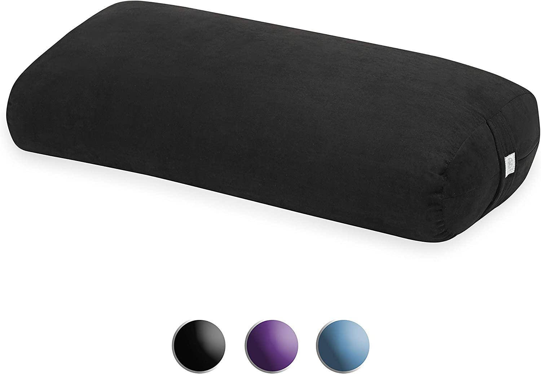 Amazon Com Gaiam Yoga Bolster Rectangular Meditation Pillow Black Sports Outdoors