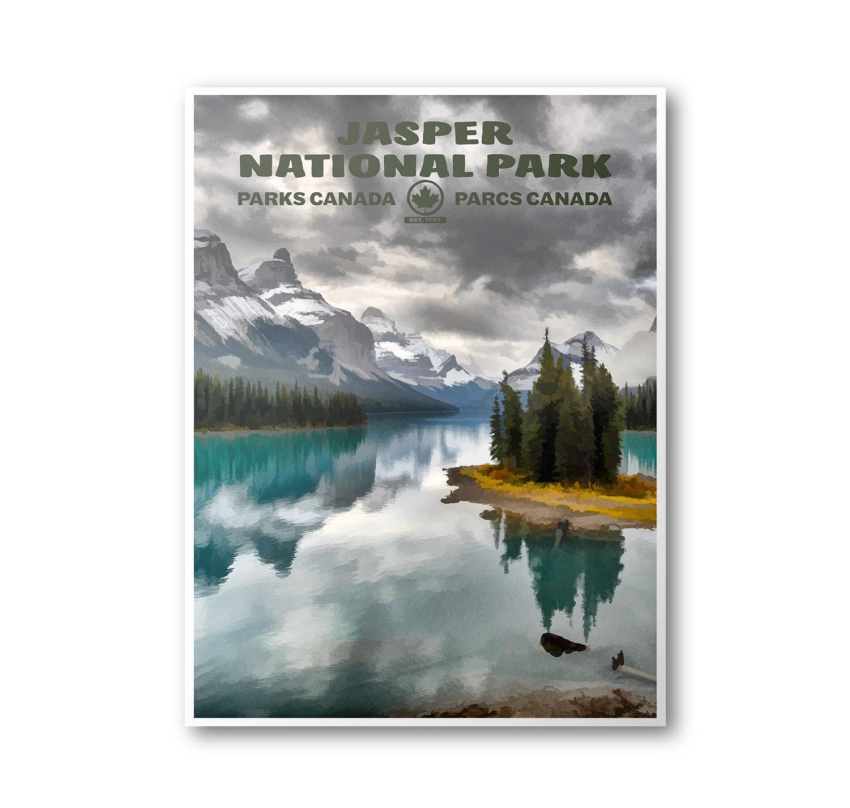 Amazon Com Jasper National Park Poster Handmade