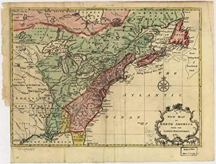New Map Of America.Amazon Com Vintage 1755 Map Of English Colonies In North America