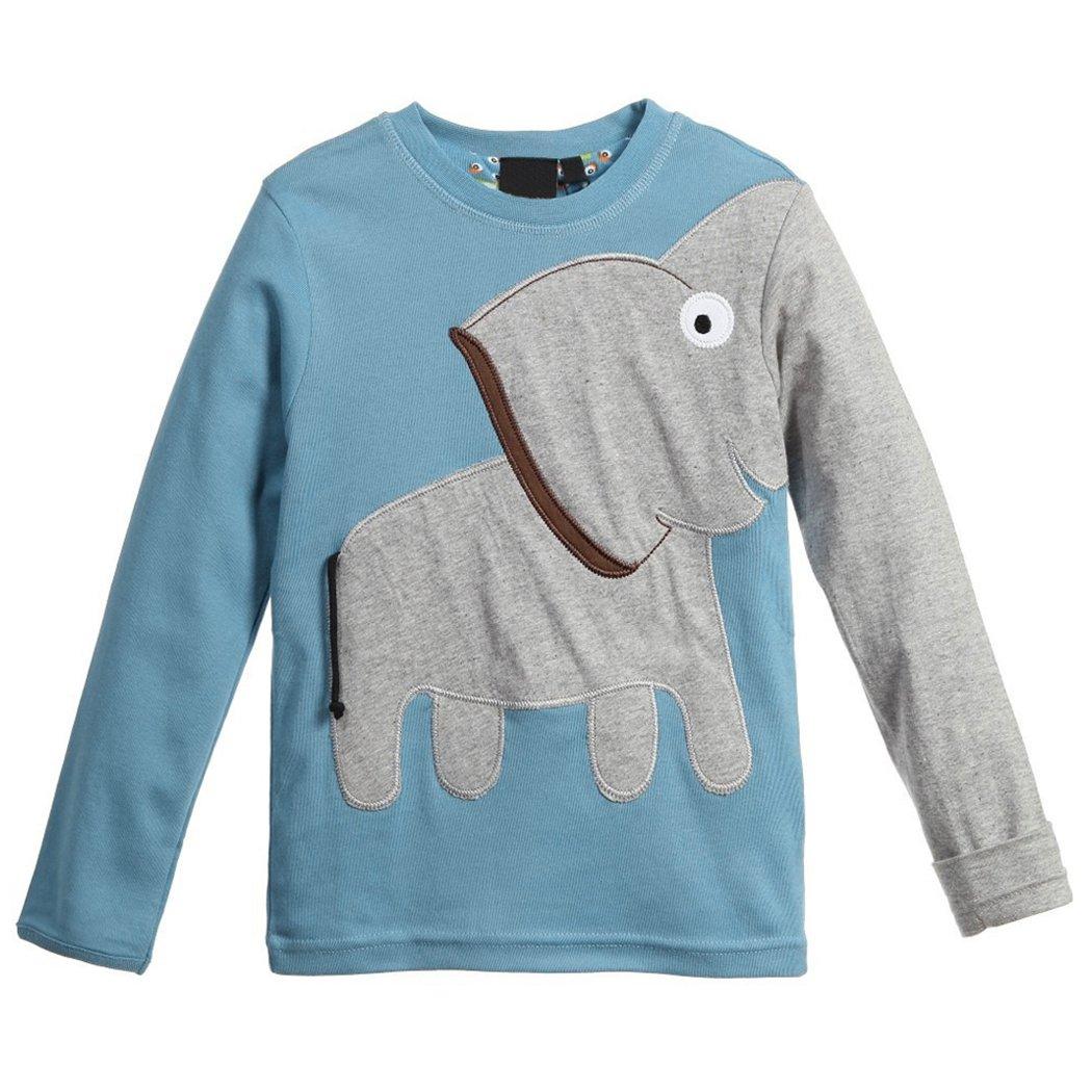 mioim Kinder Langarmshirt Elefant Jungen Mädchen Sweatshirt Winter Pullover 2-7 Jahre DEHAZ*KA951