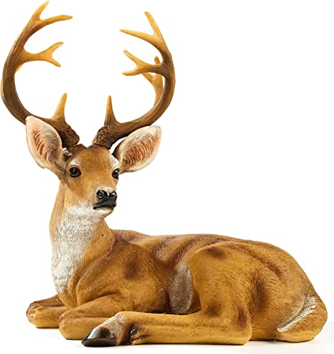 FRTCV Resin Buck Deer Garden Statue Decoration
