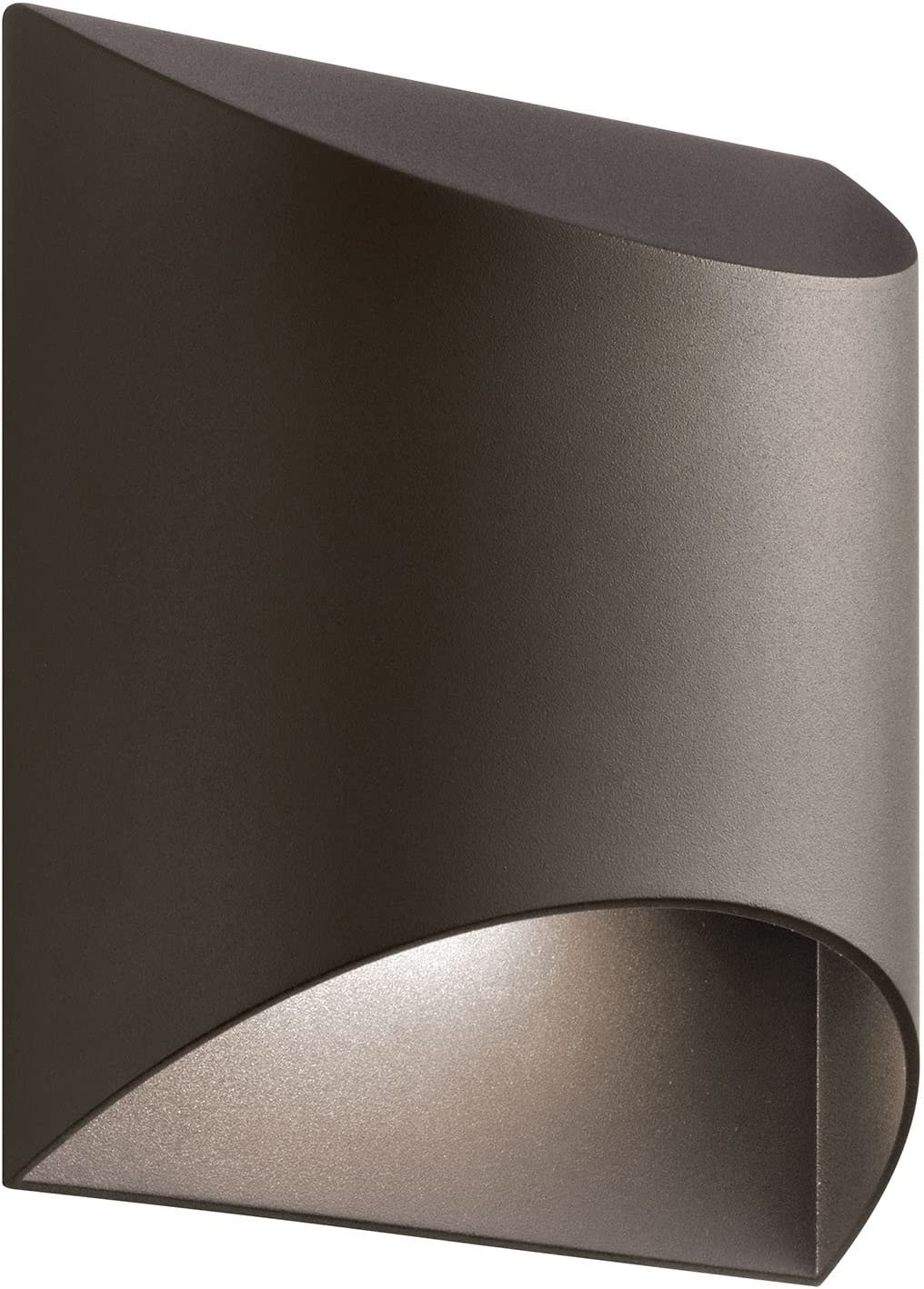 Kichler 49278AZTLED, Wesly Cast Aluminum Outdoor Wall Sconce Lighting LED, Bronze