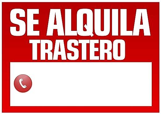Wayshop | Cartel Se Alquila Trastero | Medidas 50cm x 70cm ...