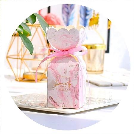 Strawberries Cake Caja para Tartas de Fresas con Lazo para decoración de Bodas y Baby Shower, Cajas de Caramelos para Fiestas de cumpleaños de niña, 50 Unidades, Color Gris: Amazon.es: Hogar